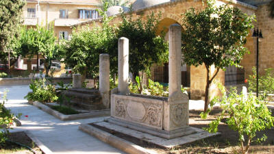The courtyard of the Arabahmet Mosque, Nicosia, North cyprus