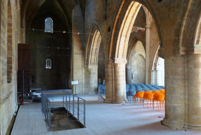 The renovated interior of the Bedestan, Nicosia, North Cyprus