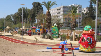The children's play area in Ankara Caglayan Park, Nicosia, North Cyprus