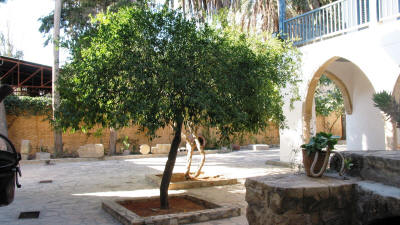 The courtyard of the Dervish Pasha mansion, Nicosia, North Cyprus