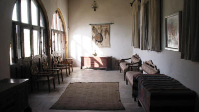 The sitting room in the Eaved House, Nicosia, North Cyprus