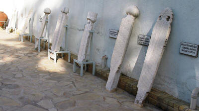 Ottoman tombstones at the Mevlevi Teke, Nicosia, North Cyprus