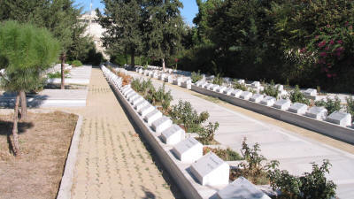 The graves at the Tekke Bahcesi, Nicosia, North Cyprus
