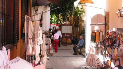 The Laiki Geitonia traditional neighbourhood in Nicosia, South Cyprus