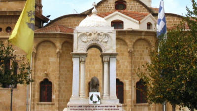 The mausoleum of Archbishop Kyprianos at Phaneromeni church, Nicosia, South Cyprus
