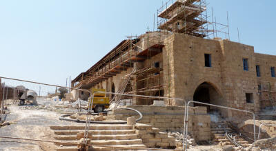 The monastery renovation work