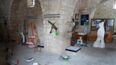 Interior of Pygmalion Sculpture Studio, Famagusta, North Cyprus.
