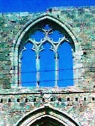 The window of the Carmelite church, Famagusta, March 2000