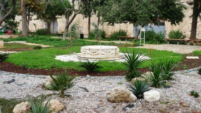 The fountain and dry garden at Desdemona Park, Famagusta, North Cyprus