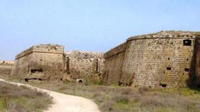 The Martinengo Bastion from the moat at Famagusta