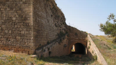 Ramp down to the interior of the Martinengo Bastion, Famagusta