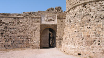 The entrance to Othello's Tower, Famagusta