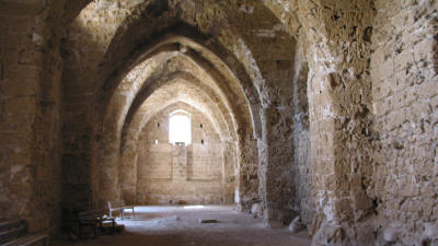 The vaulted hall at the Citadel, famagusta