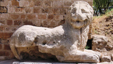 The Venetian lion by the Sea Gate, Famagusta