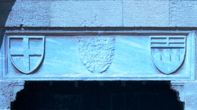 Coats of arms above the dor of the Hospitallers church, Famagusta, North Cyprus