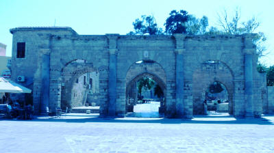 The tripple arched entrance to the Venetian Palace, Famagusta, North Cyprus