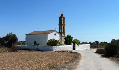 The village church at Karpasa, near Camlibel, North Cyprus