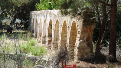 The water aqueduct at the monastery of St Panteleimon