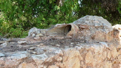 Water pipe on the aqueduct at St Panteleimon Monastery, Camlibel, North Cyprus