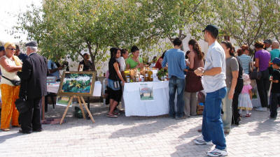 Local products on salea diring an eco day at Buyukkonuk, near Iskele, North Cyprus