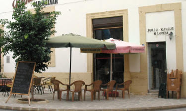 The outdoor coffe shop at the Kyrenia bandabuliya