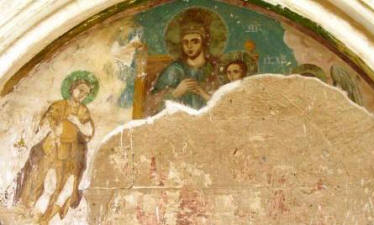 Frescoes at Bellapais Abbey