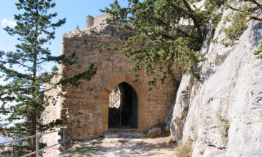 The gatehouse at Buffavento castle, Kyrenia, north Cyprus
