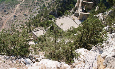 Looking down from Buffavento castle, Kyrenia, north Cyprus