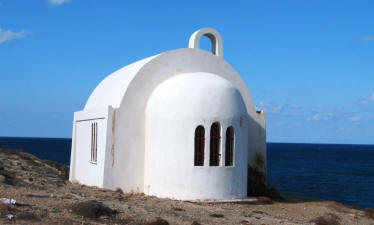St Fanourios Church overlooking the sea.