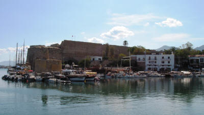 The castle and harbour of Kyrenia, North Cyprus