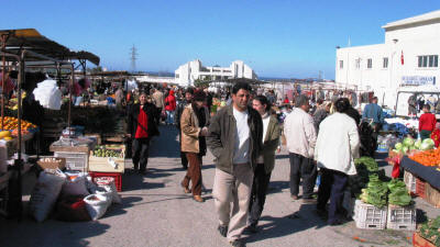 The weekly market at Kyrenia, North Cyprus