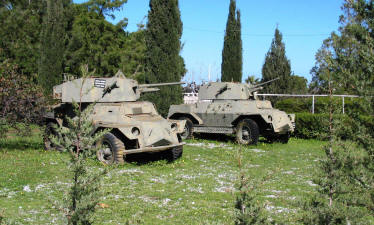 Abandoned armoured cars
