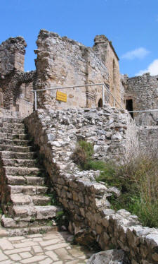 The Byzantine church at st Hilarion castle