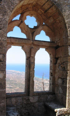 The Queen's window at St Hilarion castle