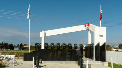 Martyrs' memorial at Gaziverin
