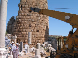 Excavation and renovation continues at Perge