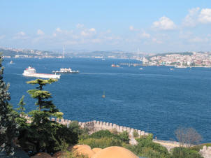View of the Bosphorus from the Topkapi Palace, Istanbul