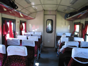 The train interior