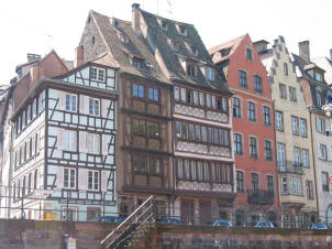 Canal-side homes in Strasbourg