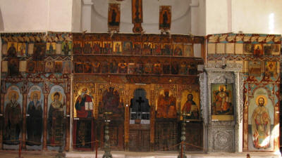 The iconostatis at St Barnabas monastery, Salamis, North cyprus