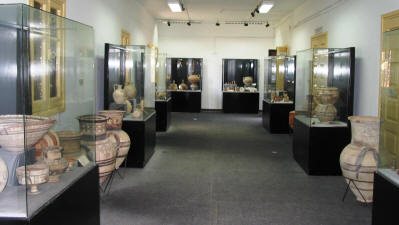 The archaeolocical museum at St Barnabas monastery, Salamis, North cyprus