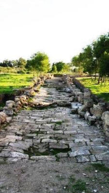 A Roman road at Salamis, near Famagusta, North Cyprus