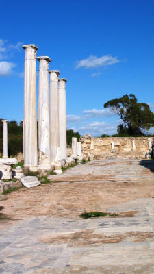 The Gymnasium stoa at Salamis, near Famagusta, North Cyprus