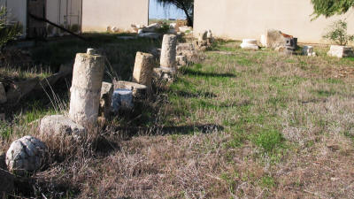 Excavated columns from Enkomi (Alasia), Tuzla, near Famagusta, North Cyprus