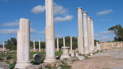 The Gymnasium collonade at Salamis, near Famagusta, North Cyprus