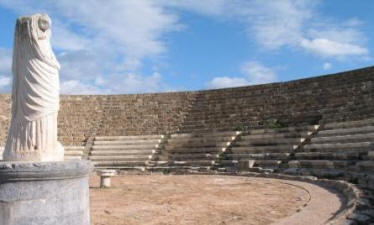 The Roman ampitheatre at Salamis, near Famagusta, North Cyprus