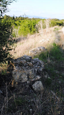 An early city wall at salamis, near Famagusta, North Cyprus